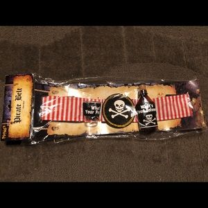 Pirate Costume Belt Poison Drink Party Skull